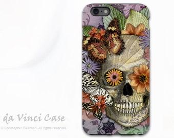 Apple iPhone 6 Plus - 6s Plus Case - Butterfly Sugar Skull - Dia De Los Muertos iPhone 6s Plus Skull case - Dual Layer TOUGH Case