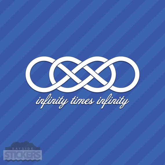 Infinity Times Infinity Symbol Vinyl Decal Sticker Double