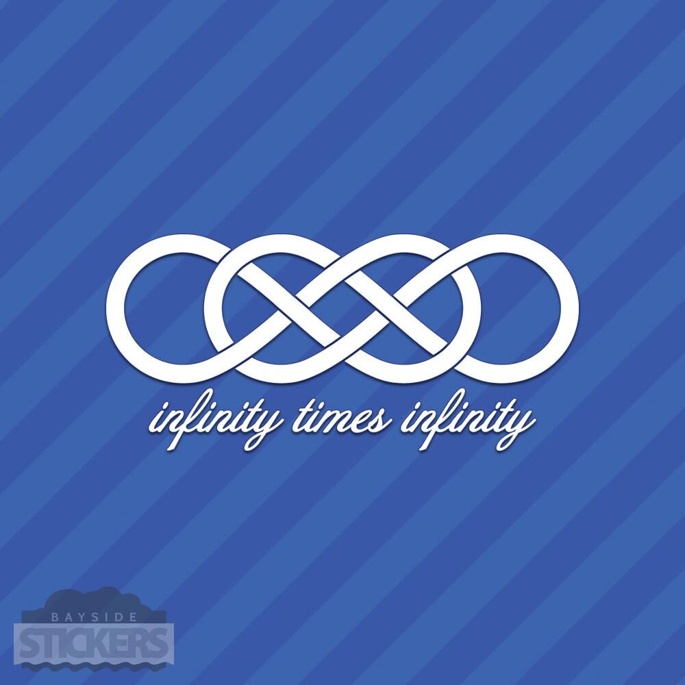 Infinity times infinity symbol vinyl decal sticker double zoom buycottarizona