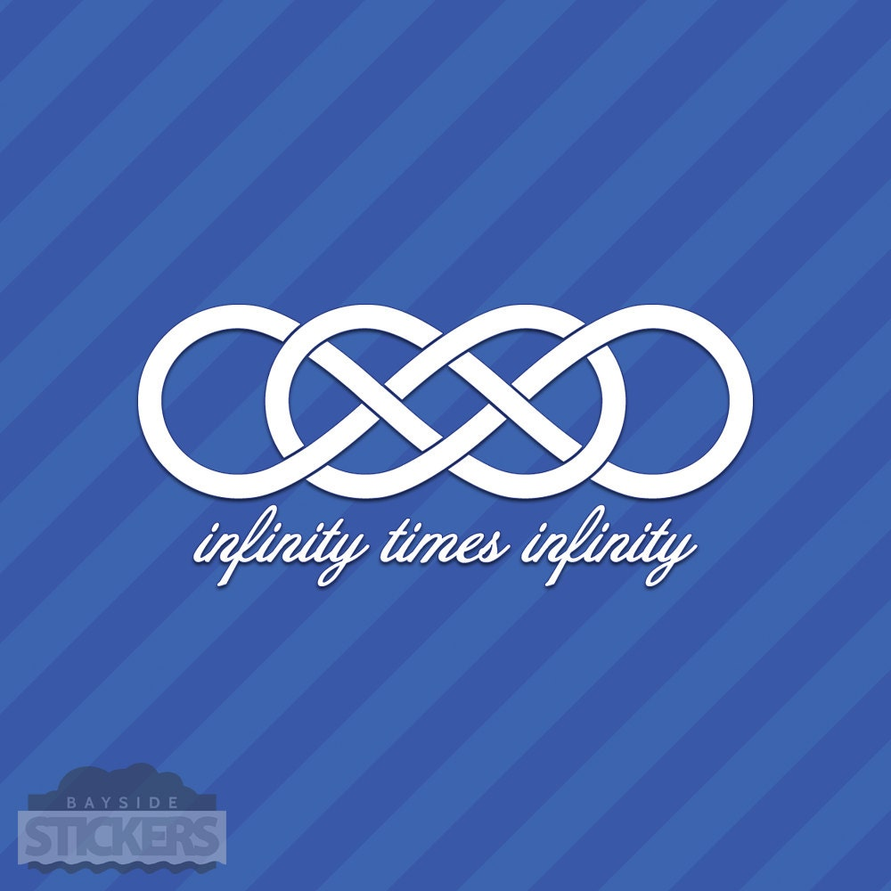 Infinity times infinity symbol vinyl decal sticker double zoom biocorpaavc Choice Image