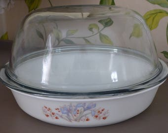 pyrex england, vintage chicken roaster with multi uses