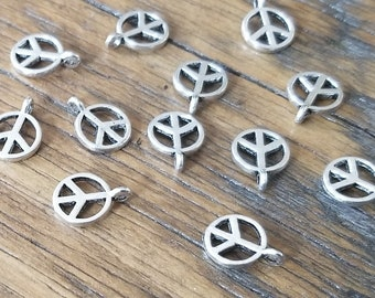 Peace Sign Charms - Lead Free Pewter Charms for Jewelry Making