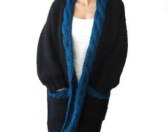 One of a Kind Chunky Wool Cardigan Coat