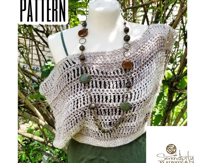 Featured listing image: Crochet PATTERN Women's Off The Shoulder Crop Top | Boho Summer Crop Top Crochet Pattern | Crochet Womans Slouchy Top | PDF Digital Download