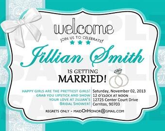 Tiffany's Bridal Shower Invitation