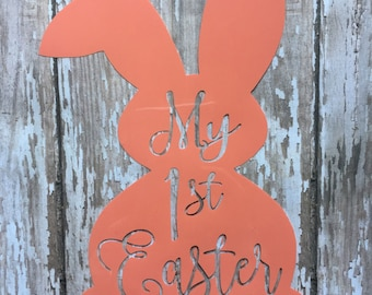 Baby's First Easter iron on decal/ DIY 1st Easter Outfit / DIY 1st Easter Baby Outfit/ Easter Iron on Decal/ My 1st Easter Iron on Decal