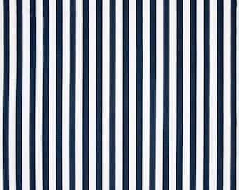 Basic Stripe Premier Navy Blue Premier Prints Home Decorating Fabric By The Yard Cotton Twill