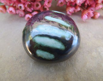 Reserved. Mm... Original focal bead. CERAMIC, MOO CREATOR. black satin. Lichen. and almond. Unique and handmade