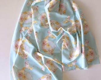 Organic cotton kiaulani tropical flower fish scarf sarong