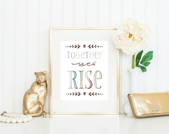 Social Worker Gift / Together We Rise / Teamwork Print / Employee Recognition Gift / Employee Appreciation Gift
