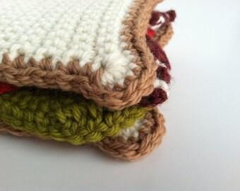 Gift For Kids Crochet Play Food BLT Sandwich Pretend Kids Play Food Play Kitchen Set Gift Under 25 Plushie BLT Sandwich Gift For Girls