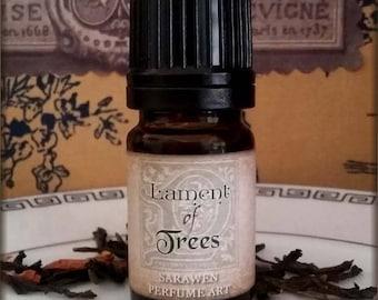 LAMENT OF TREES Ireland inspired vegan Perfume Oil / Celtic inspired scent / Moss Woods Scent Vegan perfume