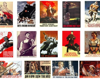 1:32 scale model Soviet wartime propaganda war posters WW2