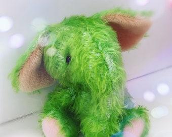 Reserved for H**** - Baby Elephant Minty by Jenny Lee of jennylovesbenny bears - artist bear