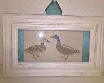 Duck picture - upcycled