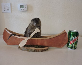 New Taxidermy Muskrat Love Chipmunk Mount Novelty Whitetail Deer Log Cabin Decor