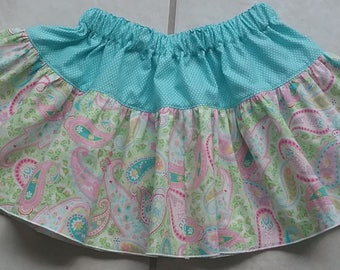 Custom Twirl Twirly Skirt for Girls 6 Months - 8 Years Choose your Colors and Fabrics