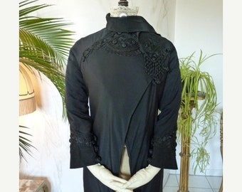 ON SALE 1908 WORTH, House of Worth, antique silk Jacket, antique Coat, Edwardian Coat, Antike Jacke, antiker Mantel