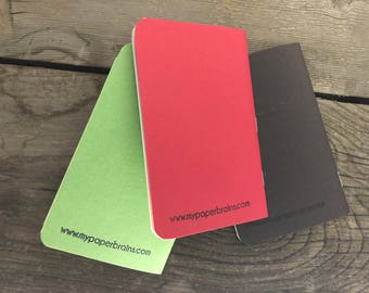 Pocket Notebooks Green/Red/Orange