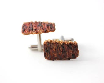 BBQ Ribs Cuff Links-Accessories for men