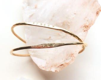 skinny ID cuff bracelet // personalized jewelry / ID bracelet / bridesmaids gift / cuff / minimal jewelry / mothers day personalized