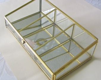 Made to Order: Gold Glass Display Box Keepsake