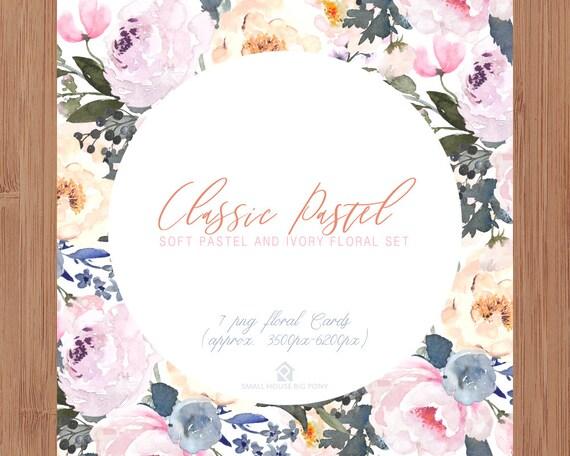 Digital Clipart- Watercolor leaves  Clipart, wreath Clip art, leaf Clipart, wedding diy clip art- Classic Pastel Cards