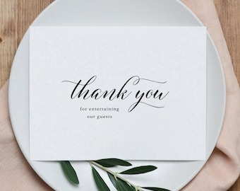 Thank you for Entertaining Our Guests, Wedding Card for DJ, DJ Wedding Card, Wedding Thank You Cards, Wedding DJ Thank You Card, K2