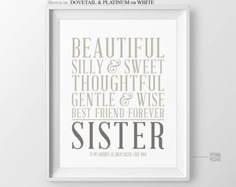 Gift for Sister Gift Christmas Gift for Sisters Birthday Gift Sister In Law Gift for Maid of Honor Gift Bridesmaid Gift for Sisters Wedding