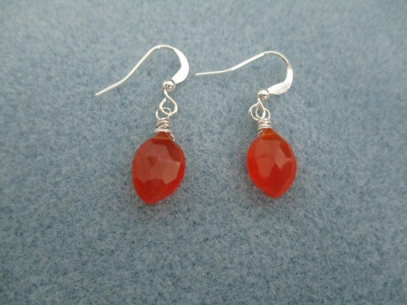 Carnelian Briolette Earrings E6161719