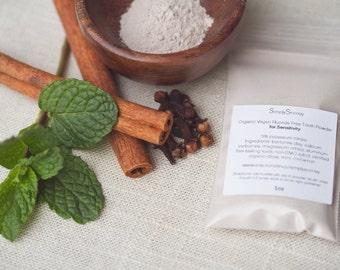 1 OZ SENSITIVITY Formula Vegan Organic Fluoride Free Remineralizing Tooth Powder, 4-6 weeks supply
