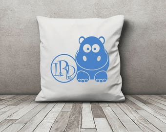 Custom Monogrammed Cute Animal Throw Pillow Cover