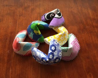 Reusable Fabric Fortune Cookies