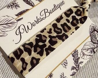 Hair tie   cheetah hair tie   cheetah print   no crease hair ties   fabric hair ties   single hair tie   trendy hair tie   hair tie gift