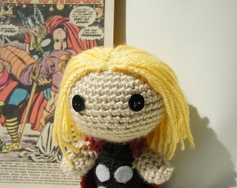 Crocheted Thor Doll