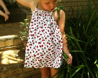 Strawberry print  Pillowcase dress