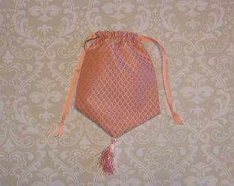 Peach Reticule- Regency Purse