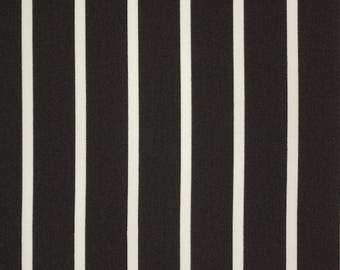 Black and White Stripe Fabric - 58 Inches Wide