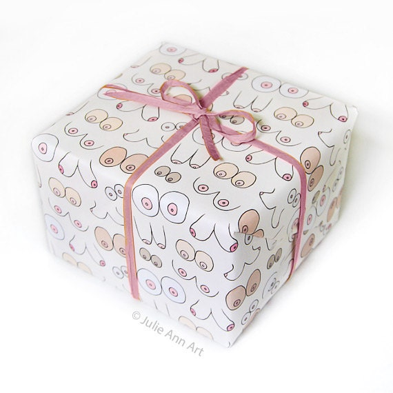 Boob wrapping paper funny gift wrap mature negle Gallery