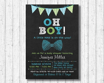 Bow Tie Baby Shower Invitation / Bow Tie Baby Shower / Little Man Baby Shower / PRINTABLE A202