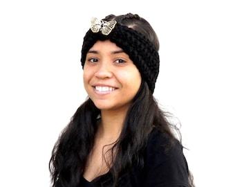 Crochet Turban Headband, Earwarmer, Women, Teen, Chunky, Ready To Ship,