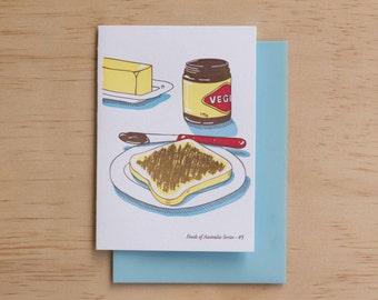 Vegemite on Toast - Foods of Australia Series Letterpress Card