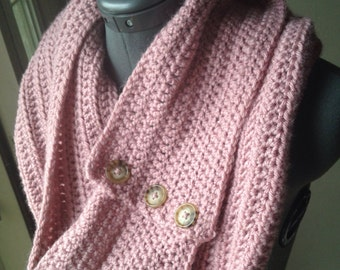 Long Buttoned Infinity Scarf