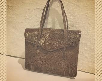 Vintage Tan Franklin Simon Snakeskin Handbag