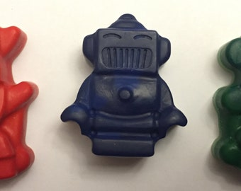 Robot Crayons * Set of 3 * Perfect for Party Favors * Stocking Stuffers * Small Gifts