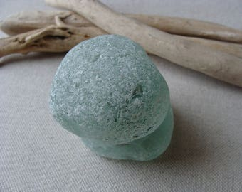 Sea glass knob - genuine sea glass - beach find - vintage find - surf tumbled