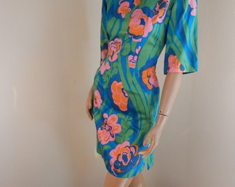 alice vintage dress, polished cotton, hawaiiana, hawaiian dress
