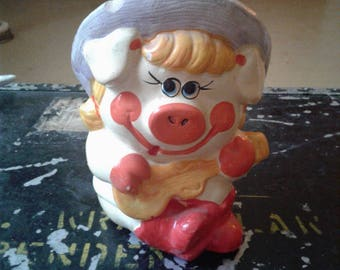 Vintage Petunia The Pig COIN PIGGY BANK