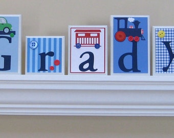 Name Blocks . ROUTED EDGE .  Nursery Name Blocks . Nursery Room Decor . Baby Name Blocks . Wood Name Blocks . Bedding . Train . Grady