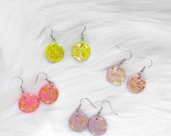 Colored Drop Earrings